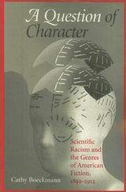 Cover of: A Question of Character | Catherine Boeckmann