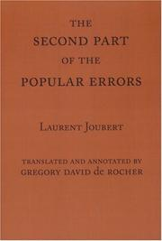 Cover of: The Second Part of the Popular Errors | Laurent Joubert