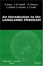 Cover of: An Introduction to the Langlands Program |