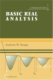 Cover of: Cornerstones of Real Analysis