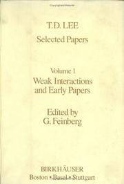 Cover of: Selected Papers Volume 1 | T.-D. Lee