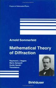 Cover of: Mathematical Theory of Diffraction (Progress in Mathematical Physics)