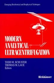 Cover of: Modern analytical ultracentrifugation |