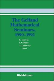 Cover of: The Gelfand Mathematical Seminars, 1990-1992 (Gelfand Mathematical Seminar Series) |