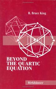 Cover of: Beyond the quartic equation