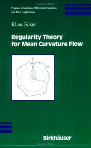 Cover of: Regularity Theory for Mean Curvature Flow