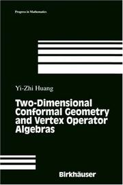 Cover of: Two-dimensional conformal geometry and vertex operator algebras