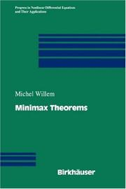 Cover of: Minimax theorems