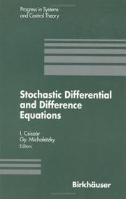 Cover of: Stochastic differential and difference equations |