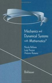 Cover of: Mechanics and dynamical systems with Mathematica | N. Bellomo