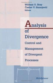 Cover of: Analysis of divergence |