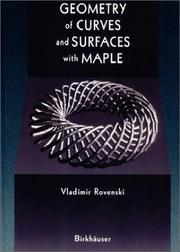 Cover of: Geometry of Curves and Surfaces with MAPLE | Vladimir Y. Rovenski