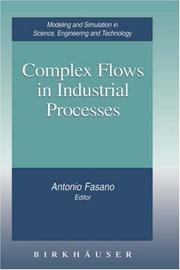 Cover of: Complex flows in industrial processes