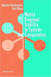 Cover of: Matrix diagonal stability in systems and computation