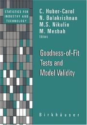 Cover of: Goodness-of-Fit Tests and Model Validity (Statistics for Industry and Technology) |