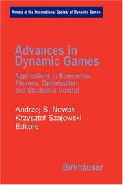 Cover of: Advances in Dynamic Games |