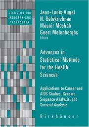 Cover of: Advances in Statistical Methods for the Health Sciences by