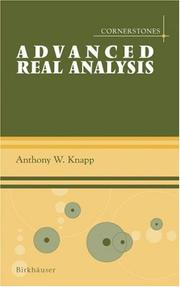 Cover of: Advanced Real Analysis (Cornerstones)