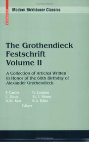 Cover of: The Grothendieck Festschrift Volume II |