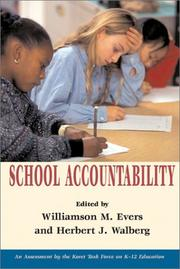 Cover of: School Accountability (Hoover Institution Press Publication, 512.) |