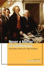 Cover of: Never a matter of indifference