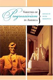 Cover of: Varieties of Progressivism in America