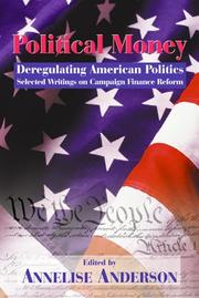 Cover of: Political Money