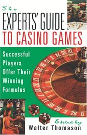 Cover of: The experts' guide to casino games