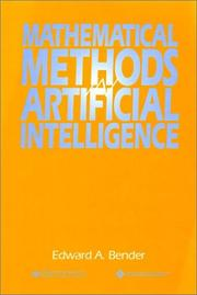 Cover of: Mathematical methods in artificial intelligence