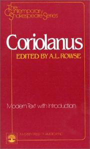 Cover of: Coriolanus by William Shakespeare
