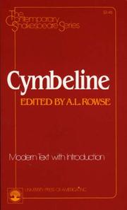 Cover of: Cymbeline by William Shakespeare