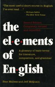 Cover of: The elements of English | Stan Malless