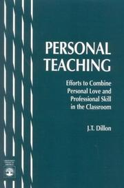 Cover of: Personal teaching | J. T. Dillon