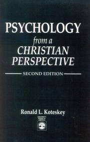 Cover of: Psychology from a Christian perspective