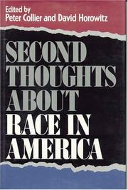 Cover of: Second thoughts about race in America