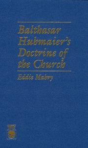 Cover of: Balthasar Hubmaier
