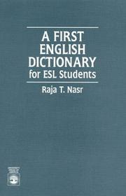 Cover of: A first English dictionary