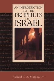 Cover of: An introduction to the prophets of Israel