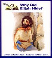 Cover of: Why did Elijah hide?