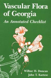 Cover of: Vascular flora of Georgia: an annotated checklist