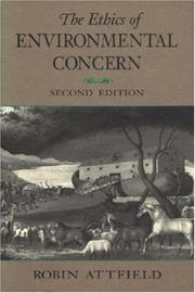 Cover of: The ethics of environmental concern