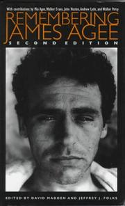Cover of: Remembering James Agee |