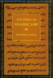 Cover of: The spirit of Islamic law