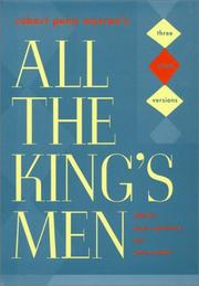 Cover of: Robert Penn Warren's All the King's Men