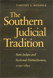 Cover of: The southern judicial tradition | Timothy S. Huebner