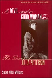 Cover of: A Devil and a Good Woman, Too | Susan Millar Williams