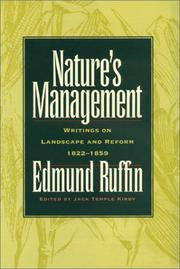 Cover of: Nature's management: Writings on Landscape And Reform, 1822-1859