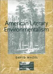 Cover of: American literary environmentalism
