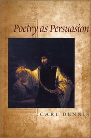 Cover of: Poetry as persuasion