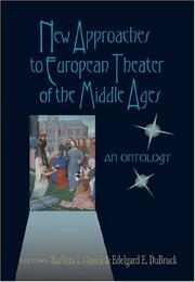 Cover of: New Approaches to European Theater of the Middle Ages |